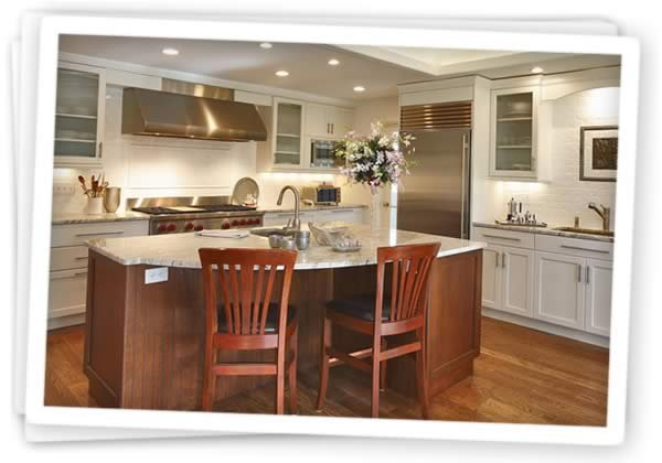 Photos of Hanover brand kitchen cabinetry